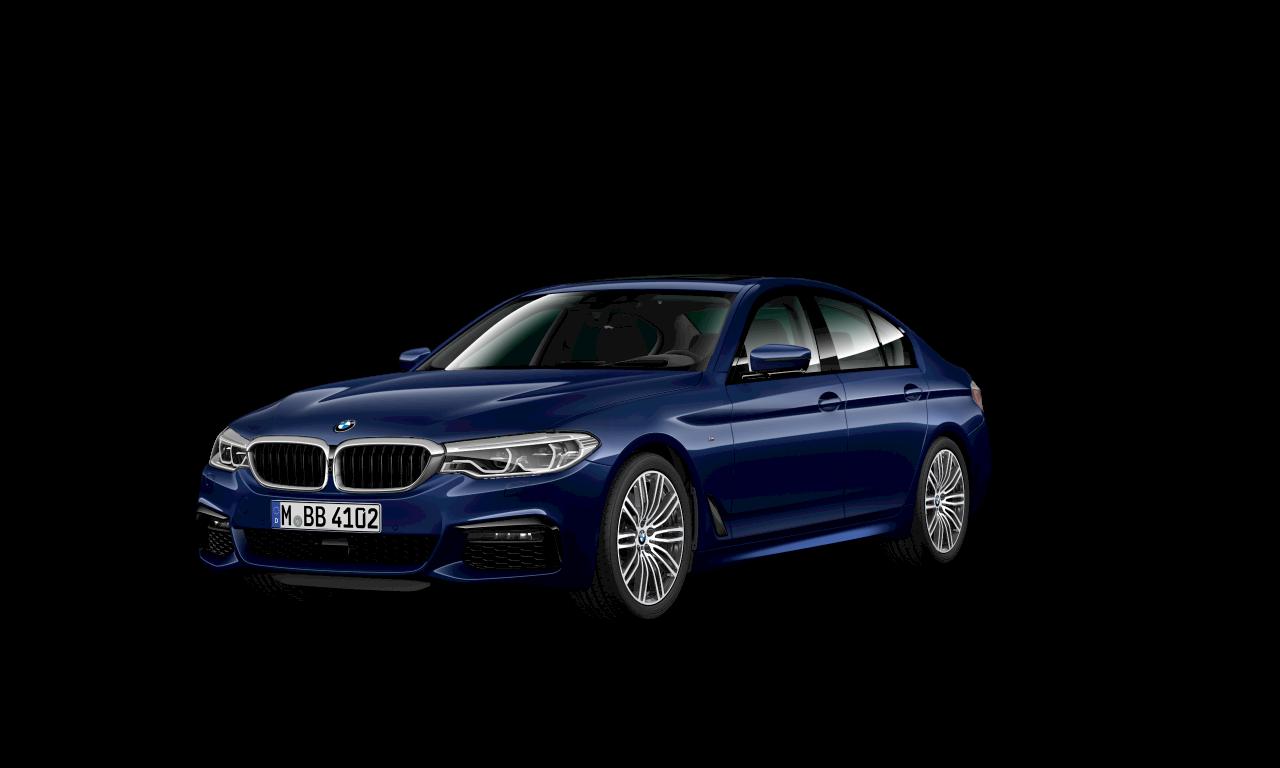 M Sport package BMW 5 Series Sedan 540i Sedan G30 Mediterranean Blue metallic