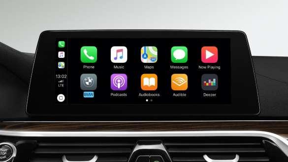 Preparation for Apple CarPlay® BMW 5 Series Sedan 540i Sedan G30 Bluestone metallic