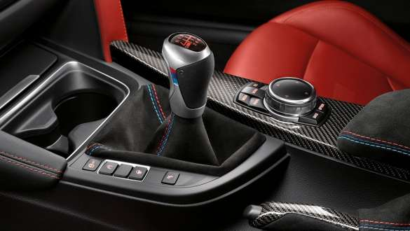Close-up view of the BMW 3 Series Sedan with focus on the BMW M Performance interior kit.