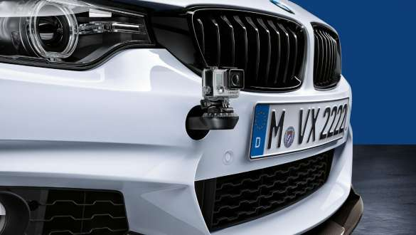 Close-up view of the BMW 3 Series Sedan with focus on the BMW M Performance Track Fix.
